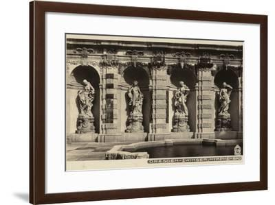 Postcard Depicting the Statues of Nymphs in the Grounds of the Zwinger--Framed Photographic Print