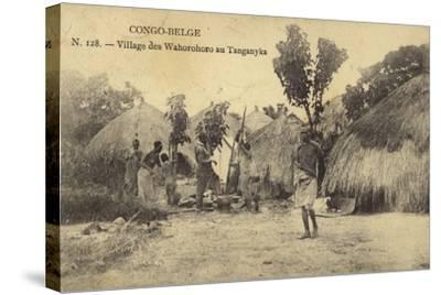 Belgian Congo - Wahorohoro Village in Tanganyika, East Africa--Stretched Canvas Print