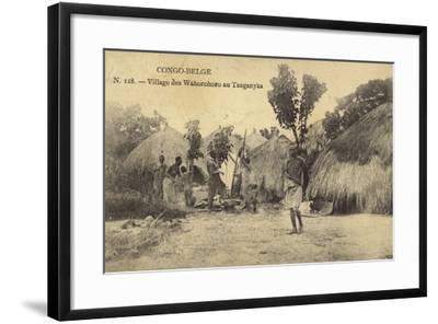 Belgian Congo - Wahorohoro Village in Tanganyika, East Africa--Framed Photographic Print