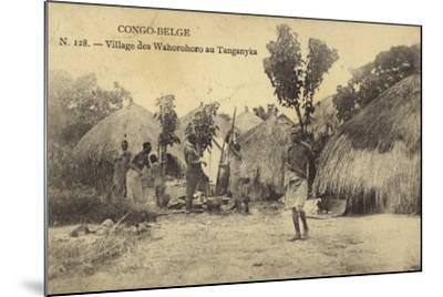 Belgian Congo - Wahorohoro Village in Tanganyika, East Africa--Mounted Photographic Print