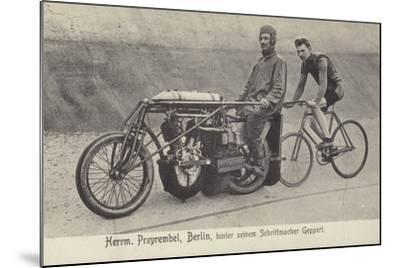 Herrm Przyrembel, Berlin, Hinter Seinem Schrittmacher Geppert--Mounted Photographic Print