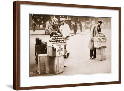 Jobless New Yorkers Selling Apples on the Pavement, 1930--Framed Photographic Print