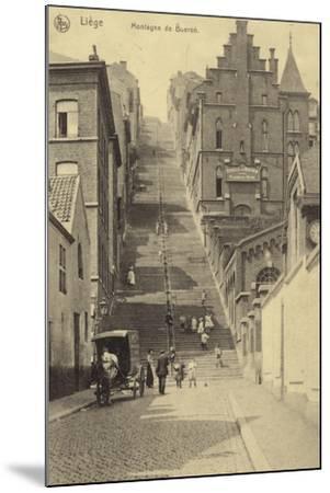 Postcard Depicting Stairway of the Montagne De Bueren--Mounted Photographic Print