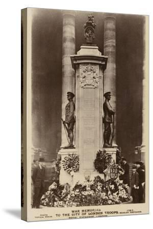 War Memorial to the City of London Troops, Royal Exchange, London--Stretched Canvas Print