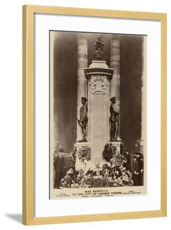 War Memorial to the City of London Troops, Royal Exchange, London--Framed Photographic Print