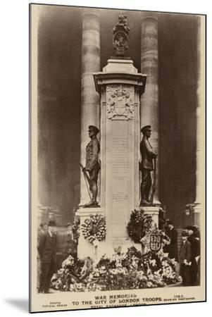 War Memorial to the City of London Troops, Royal Exchange, London--Mounted Photographic Print