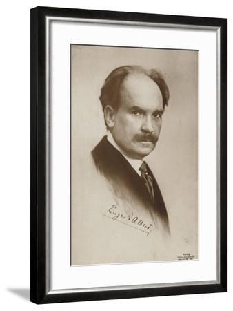 Eugen D'Albert, Scottish-Born German Pianist and Composer--Framed Photographic Print