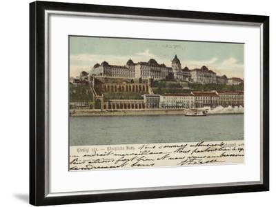 Postcard Depicting the Hungarian Parliament Building--Framed Photographic Print