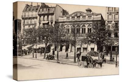 Théâtre Du Gymnase, Boulevard Bonne-Nouvelle, Paris, 1890--Stretched Canvas Print