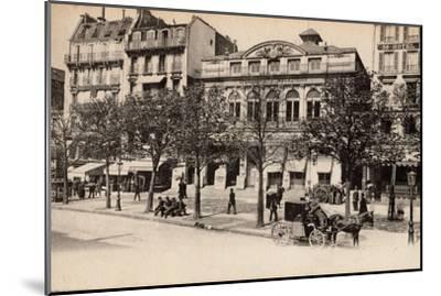 Théâtre Du Gymnase, Boulevard Bonne-Nouvelle, Paris, 1890--Mounted Photographic Print