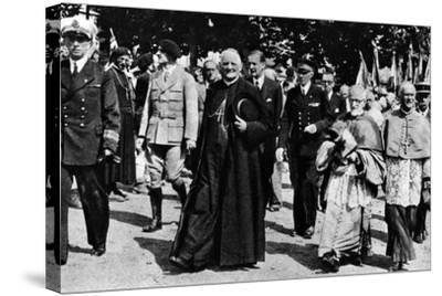 Cardinal Pierre-Marie Gerlier During a Vichy Parade, C.1940-44--Stretched Canvas Print