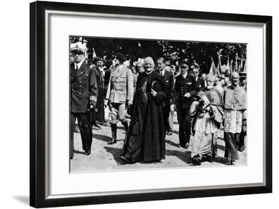 Cardinal Pierre-Marie Gerlier During a Vichy Parade, C.1940-44--Framed Photographic Print
