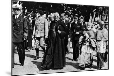 Cardinal Pierre-Marie Gerlier During a Vichy Parade, C.1940-44--Mounted Photographic Print