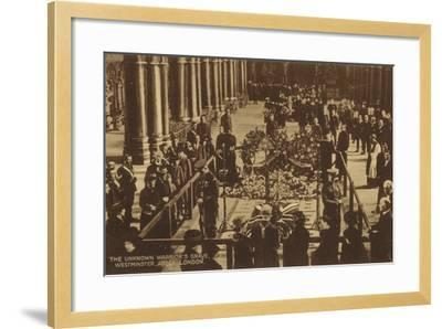 The Unknown Warrior's Grave, Westminster Abbey, London--Framed Photographic Print