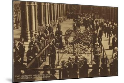 The Unknown Warrior's Grave, Westminster Abbey, London--Mounted Photographic Print