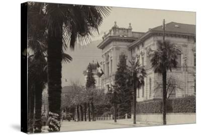 Conference Palace Where the Locarno Treaty Was Signed in 1925--Stretched Canvas Print