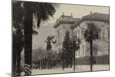 Conference Palace Where the Locarno Treaty Was Signed in 1925--Mounted Photographic Print