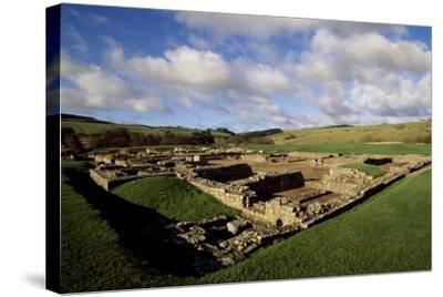 The Fortress of Vindolanda Roman Fort, Hadrian's Wall--Stretched Canvas Print