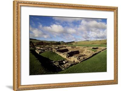The Fortress of Vindolanda Roman Fort, Hadrian's Wall--Framed Photographic Print