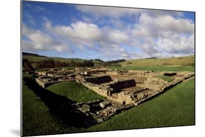 The Fortress of Vindolanda Roman Fort, Hadrian's Wall--Mounted Photographic Print