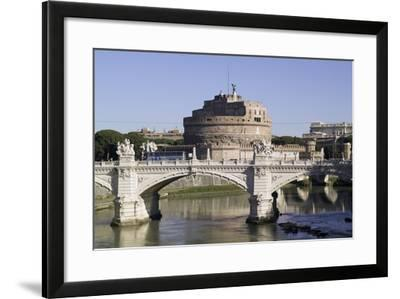 Vittorio Bridge over Tiber with Castel Sant'Angelo in Background, Rome--Framed Photographic Print