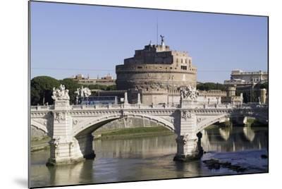 Vittorio Bridge over Tiber with Castel Sant'Angelo in Background, Rome--Mounted Photographic Print
