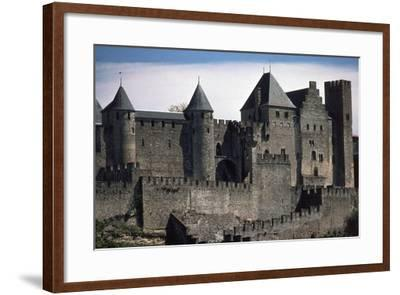 Double Boundary Wall of the Fortified Town, Carcassonne--Framed Photographic Print