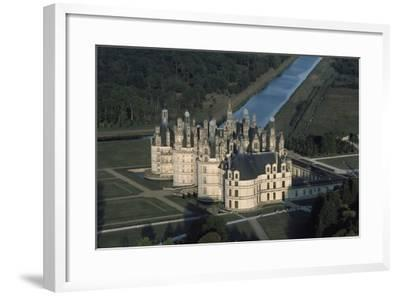 France, Loire Valley, Aerial View of Chateau De Chambord--Framed Photographic Print
