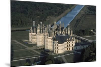 France, Loire Valley, Aerial View of Chateau De Chambord--Mounted Photographic Print