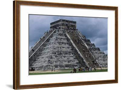 The Pyramid in Kukulkan known as the Castle in Chichen Itza--Framed Photographic Print