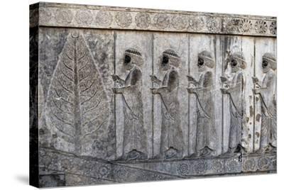 Bas-Relief Depicting Susian Guards, Apadana, Persepolis--Stretched Canvas Print