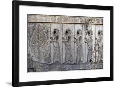 Bas-Relief Depicting Susian Guards, Apadana, Persepolis--Framed Photographic Print