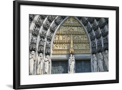 Cologne Cathedral, Main Portal of the West Facade, Cologne, Germany--Framed Photographic Print