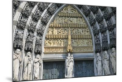 Cologne Cathedral, Main Portal of the West Facade, Cologne, Germany--Mounted Photographic Print