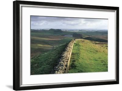 View of Hadrian's Wall, Walltown Crags, Hadrian's Wall--Framed Photographic Print