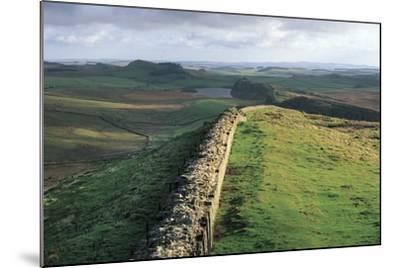 View of Hadrian's Wall, Walltown Crags, Hadrian's Wall--Mounted Photographic Print