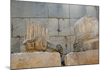Decorated Capital and Column Base, Patara, Turkey--Mounted Photographic Print