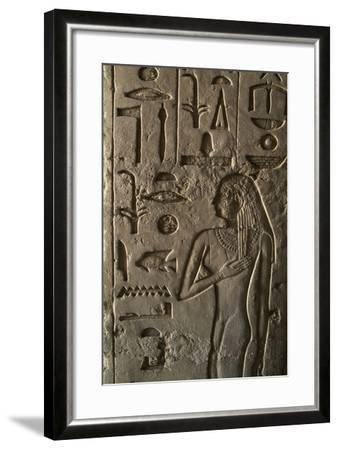 Bas Relief, Ptahshepses Tomb, Tombs of Pyramid Builders, Giza Necropolis--Framed Photographic Print