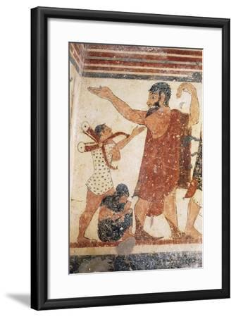 Priest Taking Leave, Fresco, Tomb of Augurs, Monterozzi Necropolis--Framed Photographic Print