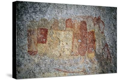 Bushman or San Cave Paintings, Bambata Cave, Matobo Hills--Stretched Canvas Print