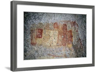 Bushman or San Cave Paintings, Bambata Cave, Matobo Hills--Framed Photographic Print