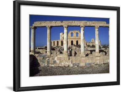 Roman Theatre and House of Peristyle, Ancient City of Sabratha--Framed Photographic Print