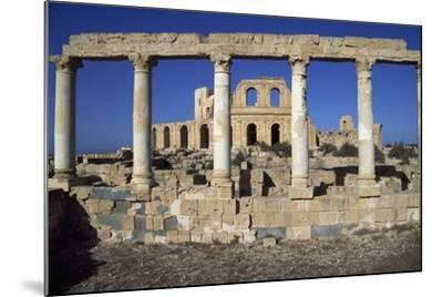 Roman Theatre and House of Peristyle, Ancient City of Sabratha--Mounted Photographic Print
