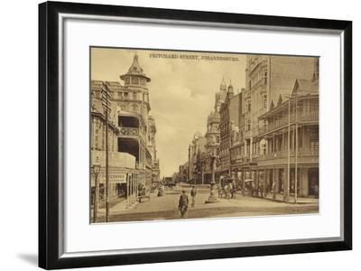 Postcard Depicting Pritchard Street in Johannesburg--Framed Photographic Print