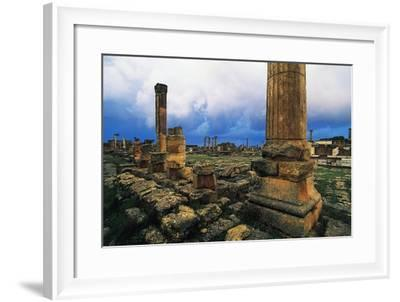 Roman Forum and Greek Agora, Greco-Roman City of Cyrene--Framed Photographic Print