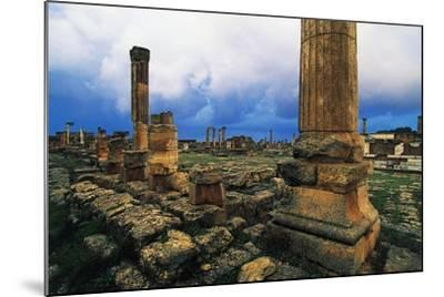 Roman Forum and Greek Agora, Greco-Roman City of Cyrene--Mounted Photographic Print