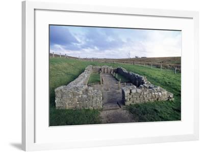 Temple of Mithras, Carrawburgh Roman Fort, Hadrian's Wall--Framed Photographic Print