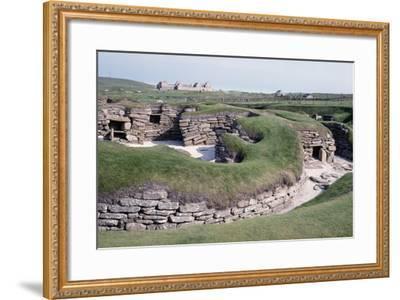 Ruins of a Prehistoric Neolithic Village of Skara Brae--Framed Photographic Print