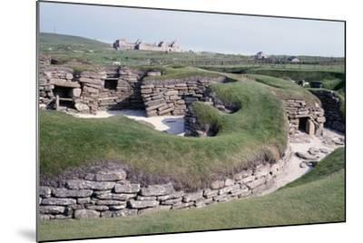 Ruins of a Prehistoric Neolithic Village of Skara Brae--Mounted Photographic Print