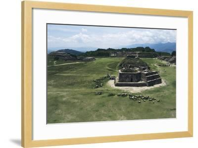 Astronomical Observatory or Building J, Archaeological Site of Monte Alban--Framed Photographic Print